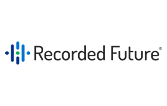 Recorded Future corporate logo in blue and black