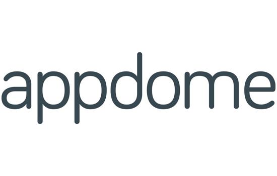 Appdome corporate logo in gray