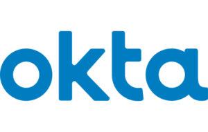 Okta corporate logo in blue