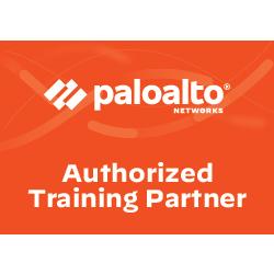 Palo Alto Networks Authorized Training Partner logo in orange box