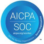 AICPA SOC corporate logo in blue