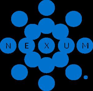 Nexum cybersecurity corporate logo in blue