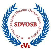 Service-Disabled Veteran-Owned Small Business corporate logo in red and blue